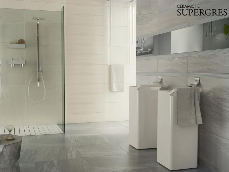 Rivestimenti bagno finto marmo idee per il design della casa - Bagno moderno piastrelle ...